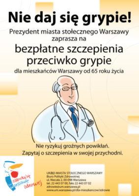 """""""Grypa 65+"""" program szczepień ochronnych przeciwko grypie dla osób od 65 roku życia"""